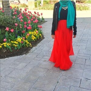 Women's long maxi skirt
